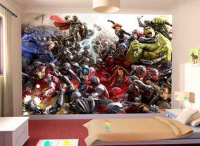 Papel De Parede Infantil Heróis Marvel Vingadores M² Nhma03