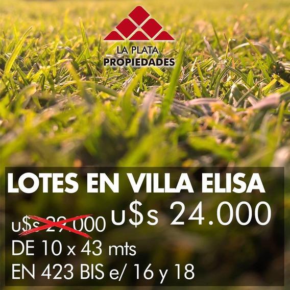 Oportunidad Villa Elisa Lotes U$$ 24.000 Y U$$ 18.000