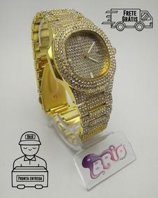Relógio Iced Trapstar Cravejado Lançamento Promoção Dourado