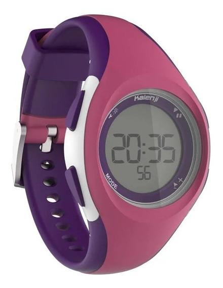 Relógio Esportivo Digital Kalenji Lilas Com Timer W200 S