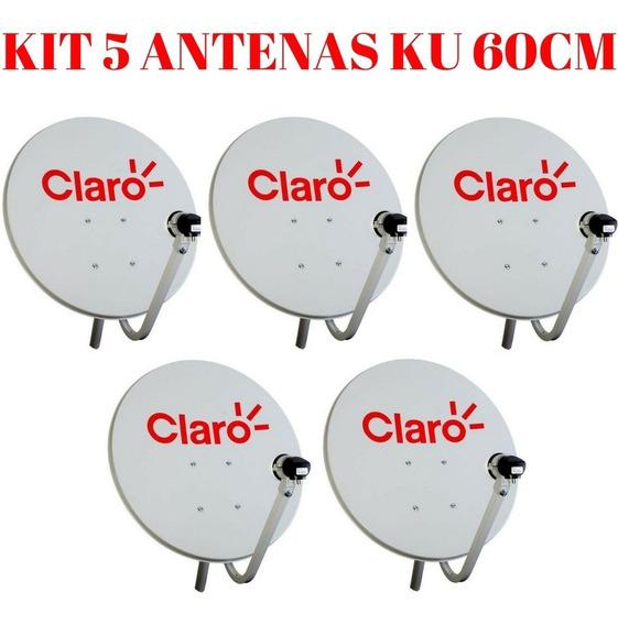 Promoção 5 Antena Ku 60cm Logo Da Claro ( Sem Cabo E Lnb )