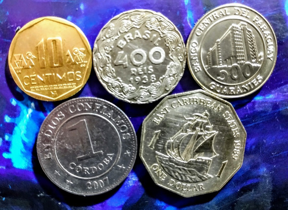 Monedas De América 15 Estados Caribeños Y Otros Países