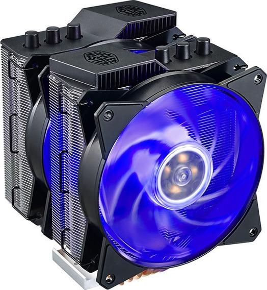 Cooler Air Ma620p Led Rgb C/ 6 Heatpipes De Cobre - 02 Coolers - Duplo Dissipador - Dual Fan - P/ Amd E Intel