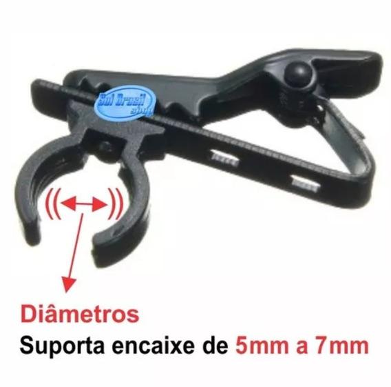 Clips De Microfone Lapela Metal 8 Peças.