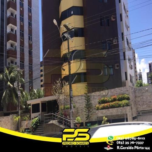 Apartamento Com 2 Dormitórios À Venda, 50 M² Por R$ 320.000 - Manaíra - João Pessoa/pb - Ap2445