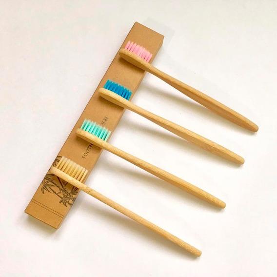 Cepillo De Dientes Ecológico De Bambú Biodegradable Niños