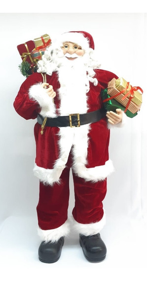 Papa Noel Rojo Artesanal Lujo 120cm #30676 - Sheshu Navidad