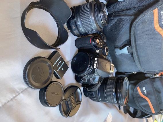Nikon D3100 Com Lente 18-200mm E 55mm + 2 Bolsas Gratis