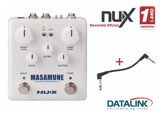 Pedal Nux Masamune Booster & Kompressor Nbk5 + Cabo