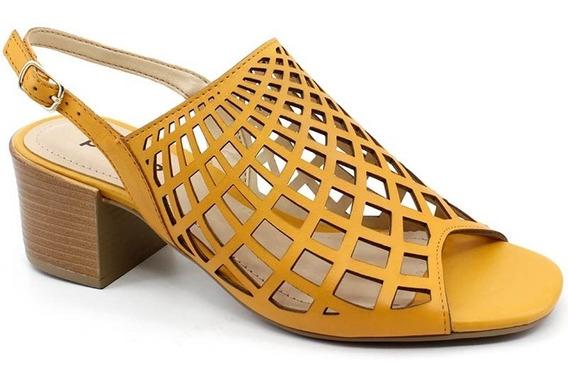 Sandália Salto Bottero 307902 Cor Amarelo Pixolé Calçados