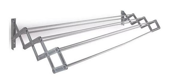 Tendedero De Pared Mor Plegable En Aluminio 8.4 Mts De Ropa