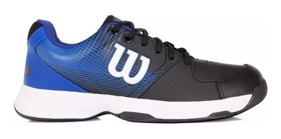 Tenis Wilson - Masculino Preto E Azul + Brinde !
