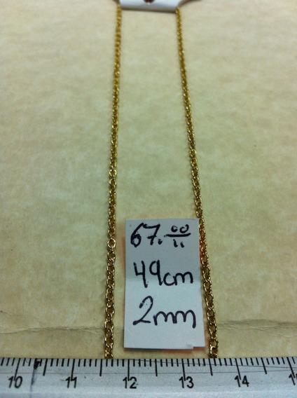 Cadena De Acero Inoxidable Chapeada 49 Cms 2mm