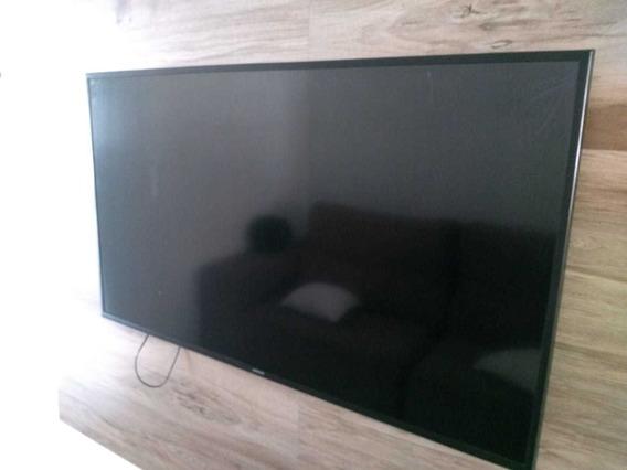 Tv 4k Samsung Mu6100, Tv Queimada E Tela Trincada