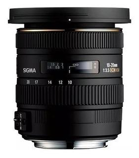 Lente Objetivo Sigma 10 20mm F 3.5 Canon Gran Angular Oferta