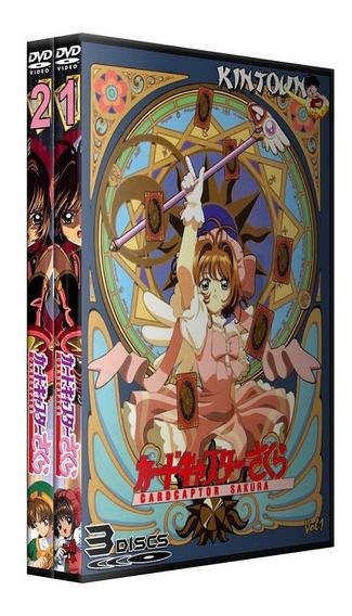 Dvds Sakura Card Captor Coleção Completa Dublada + Filmes
