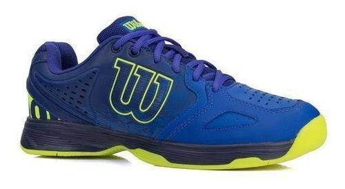 Imagem 1 de 3 de Tênis Wilson K Energy- Azul E Amarelo P/jogar Tênis