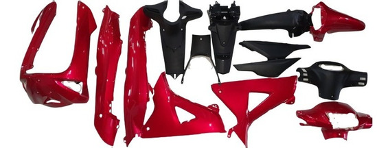 Kit Plasticos Rojo Honda New Wave 2014 Vini Oem Parts