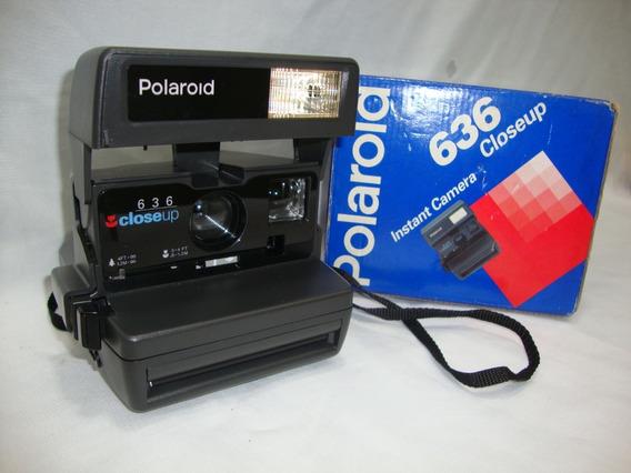 Antiga Camera Polaroid 636 Closeup Com Caixa Anos 90 Cx08
