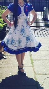 Vestido De Huasa Talla Xs/s