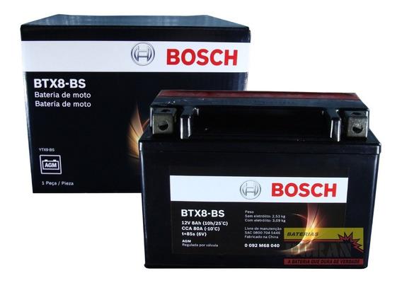 Bateria Moto Bosch Btx8-bs 8ah 12v Xt 660z Tenere Cb 500