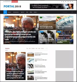 Tema Portal De Noticias 2018 Wordpress Responsivo Português