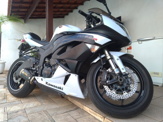 Kawasaki Ninja Zx6r 2011/2012 Branca