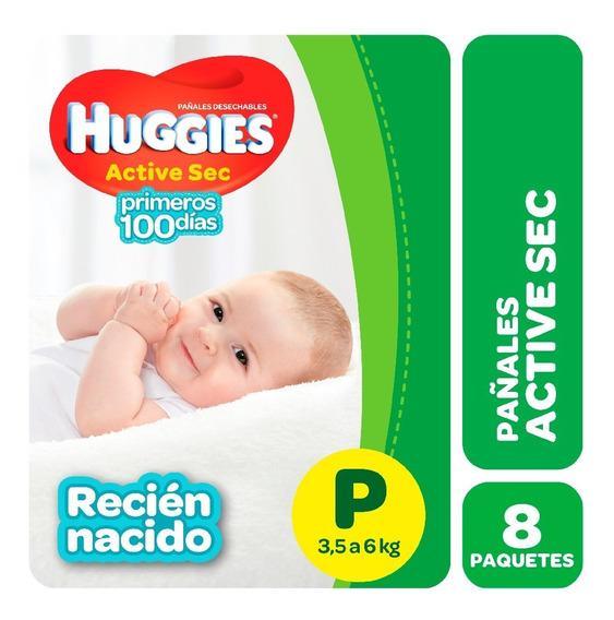 Pañales Huggies Active Sec Regular Pack X 8