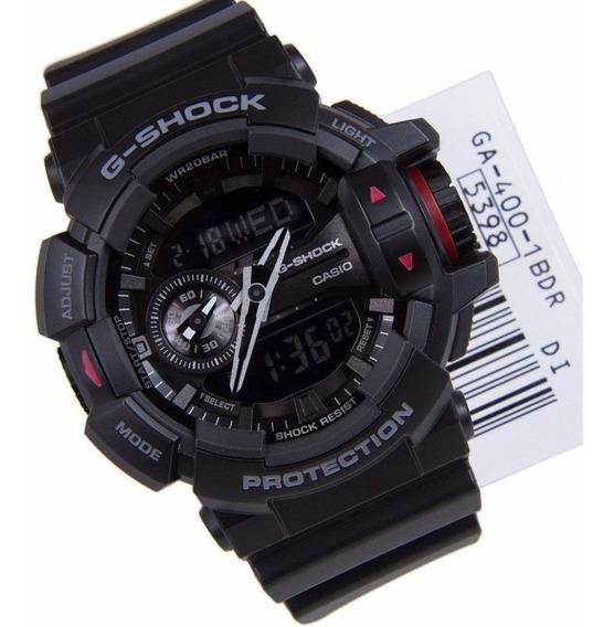 Relógio Masculino Casio G-shock Ga-400-1b Original Ga400