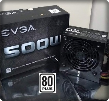 Fonte Evga 500w Real 80+plus White Pfc Ativo