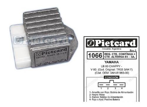 Imagen 1 de 2 de Regulador Para Motos De 6v 3 Amper Pietcard Argentina