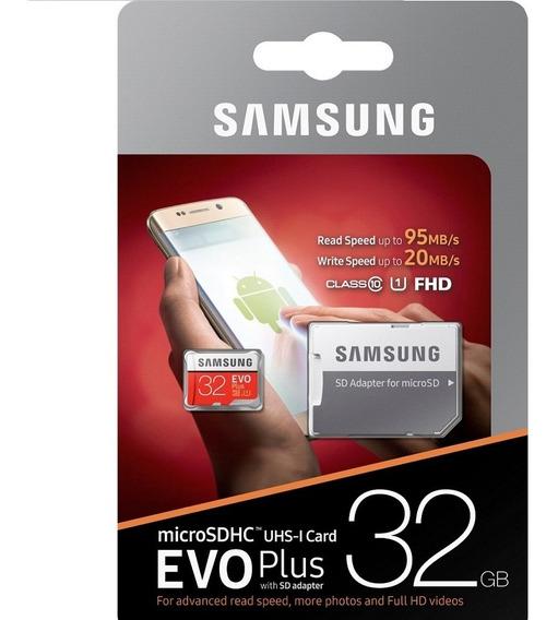 Cartão Micro Sd Samsung Evo Plus 32gb C10 95mbs Lacrado
