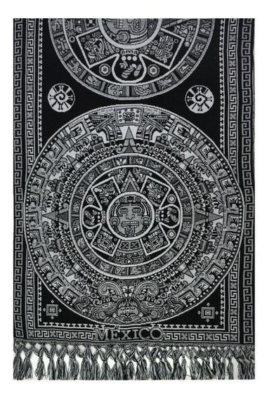 Souvenir México Rebozos Artesanales - Calendario Azteca