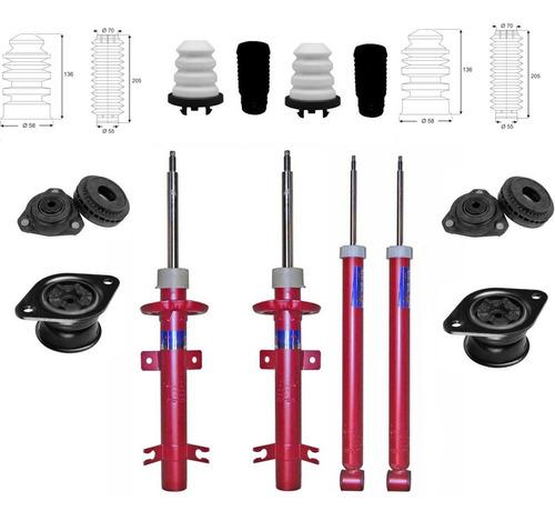 Kit 4 Amortiguadores Ecosport 4x2 /2012 Cazoletas Topes Fuel