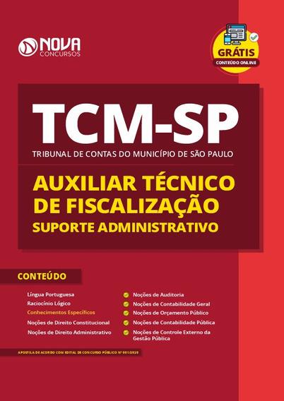 Apostila Tcm-sp 2020 Auxilar Suporte Administrativo