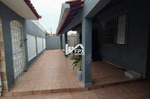 Casa Jardim Lindomar, Com Churrasqueira, Itanhaém -ca319-f