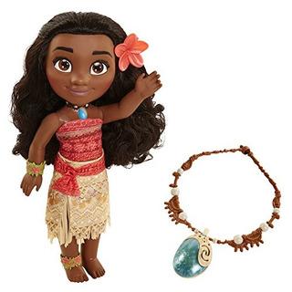 Muñeca De Disney Moana Adventure Con Magical Seashell Neckla