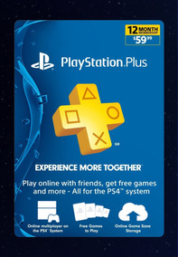 Playstation Plus 12 Meses Ps3 Ps4 Oferta 1 Año Codigo