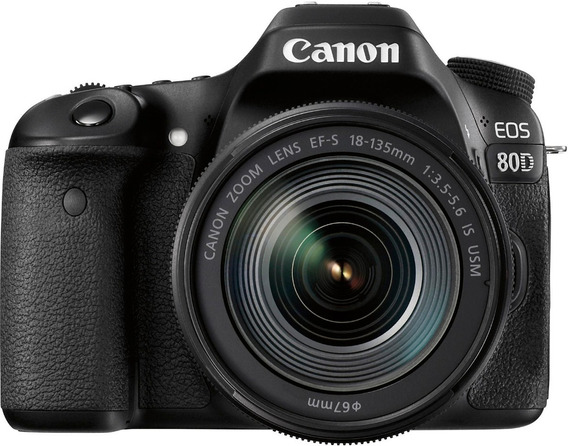 Câmera Canon Eos 80d C/ Lente 18-135mm 3.5-5.6 Is Usm