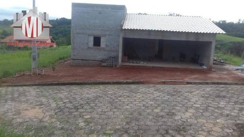 Linda Casa De Campo Com Escritura, Em Loteamento Fechado, 3 Dormitórios, Piscina, À Venda, 450 M² Por R$ 480.000,00 - Rural - Monte Alegre Do Sul/sp - Ch0862