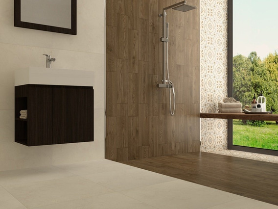Piso Ceramico Lugano Bruno 15 X 50 Interceramic