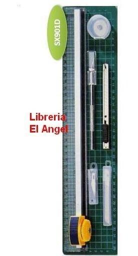 Cizalla Gillotina A4 Con Base De Corte + Bisturi + Cutter