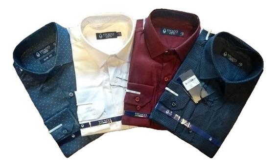 Camisa Social Masculina Slim + Gravata Slim Varias Cores