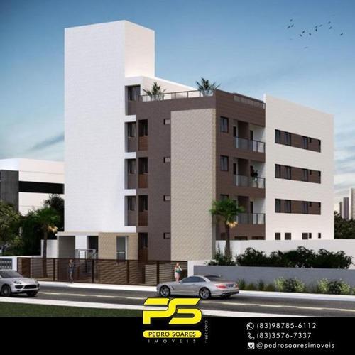 Apartamento Com 1 Dormitório A Partir, 33 M² Por R$ 173.000 - Jardim Oceania - João Pessoa/pb - Ap4260