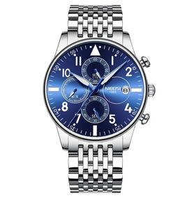Relógio Nibosi Masculino Aço Inoxidável Prova D