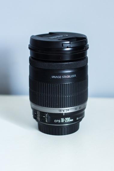 R$ 1.200 Lente Canon Ef-s 18-200mm F3.5