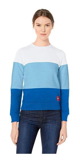 Calvin Klein - Sudadera Mujer Azul Tritono Ck Original