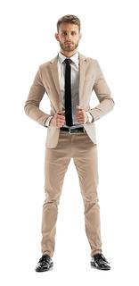 Sacos De Vestir Hombre Entallados Satinados Slim Fit Import