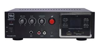 Amplificador Vmr Pa-450be 60 Watts Usb Publicidad 12v 220v
