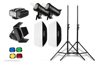 Kit Luces Godox Sk400 Ii X2 Para Studio De Fotografia